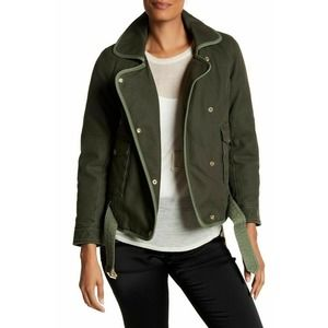 ZADIG & VOILTAIRE S Olive Green Kawa Parka Jacket